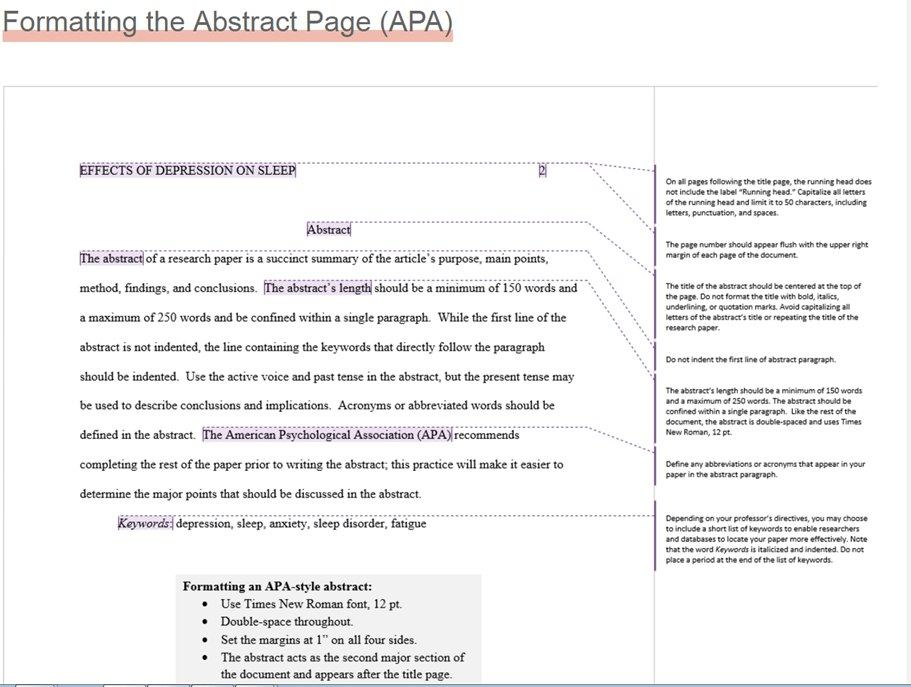 Annotation in APA Style